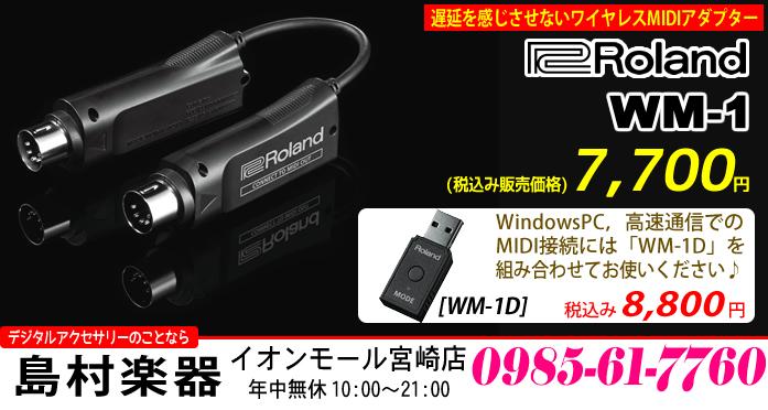Roland WM-1 税込み7,700円,WM-1D 税込み8,800円