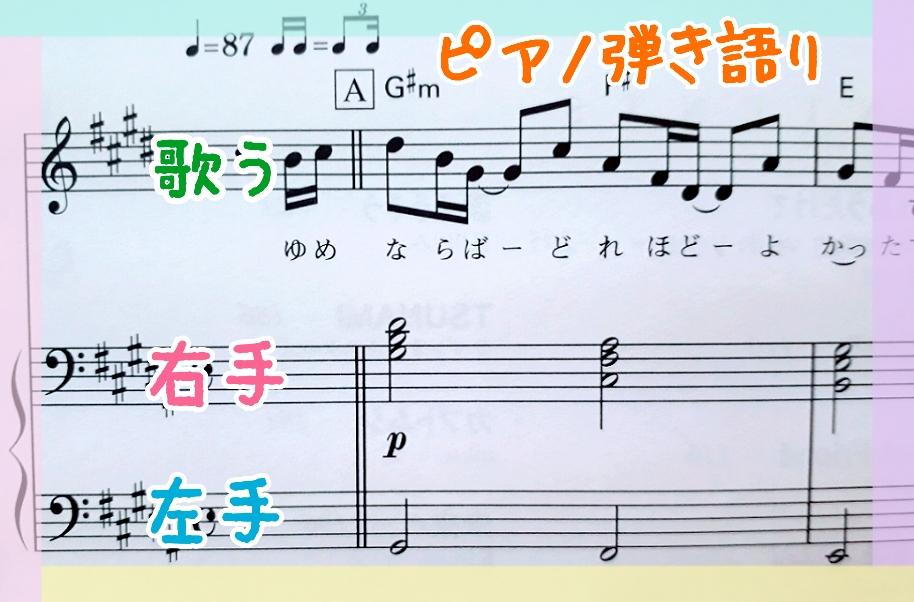 ピアノ弾き語りの楽譜