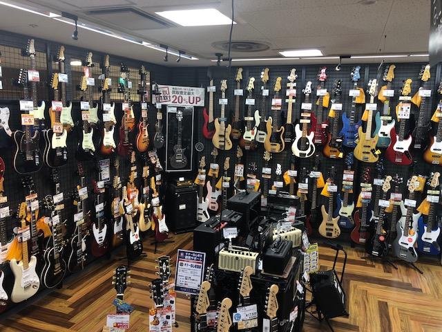 島村楽器ミ・ナーラ奈良店 エレキギター・エレキベース売り場