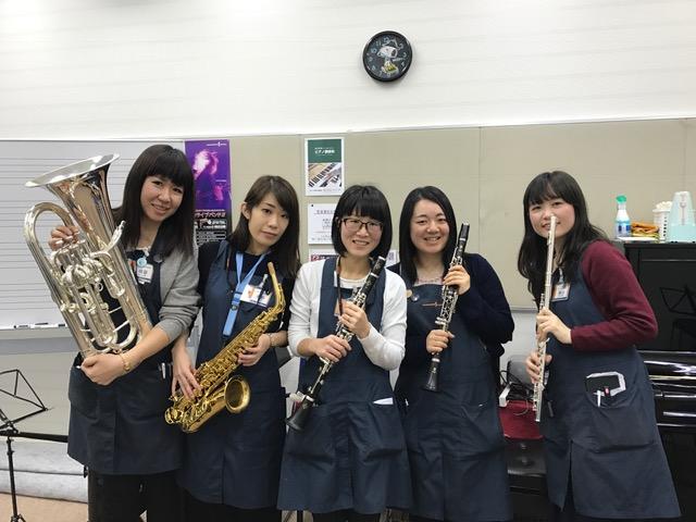 イオンモール成田店 管楽器スタッフ