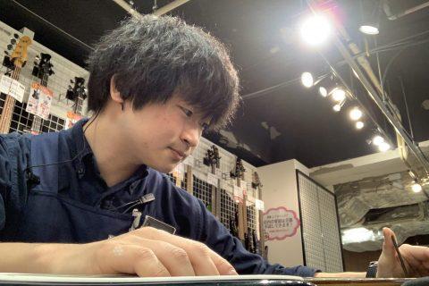スタッフ写真ギターエイド・エフェクター・ギターアクセサリー・アンプ清水