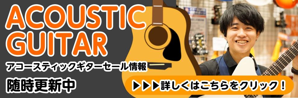 アコースティックギターセール情報