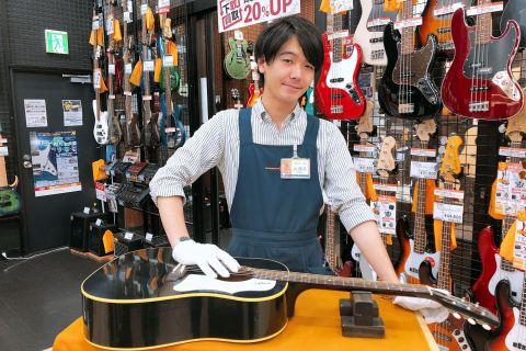 スタッフ写真アコースティックギター・エレキベース・エレキギター九頭見