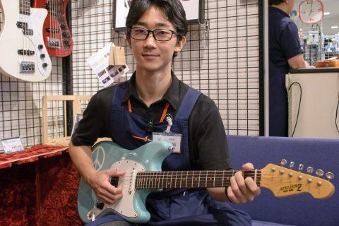 スタッフ写真ギター・エフェクター・アンプ・シマレコ・ドラム上原
