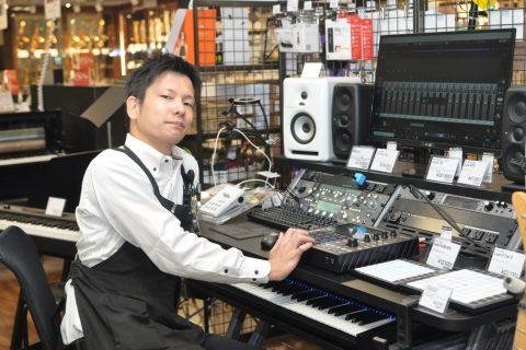 スタッフ写真デジタル楽器全般・PA機器・DTM・ドラム湯村