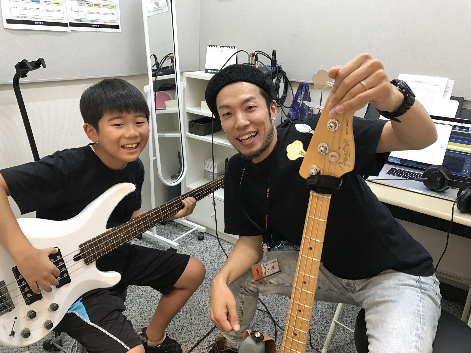 島村楽器イオンモール高崎店 ベース教室 レッスン 子供