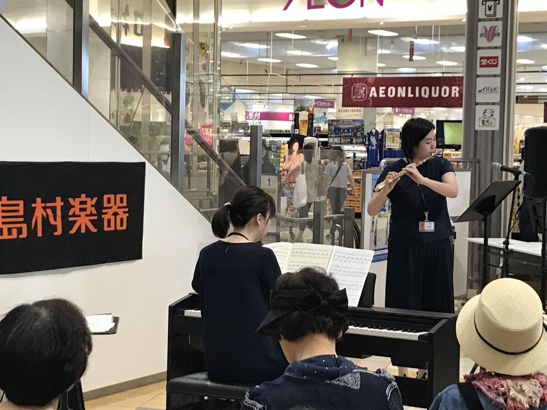 島村楽器イオンモール高崎店 フルート教室 レッスン 川端先生 デモ演奏