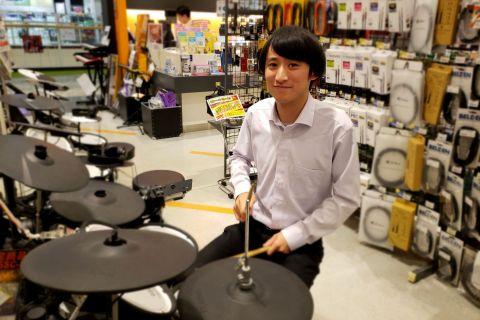 島村楽器イオンモール高崎店 電子ドラム 担当米島