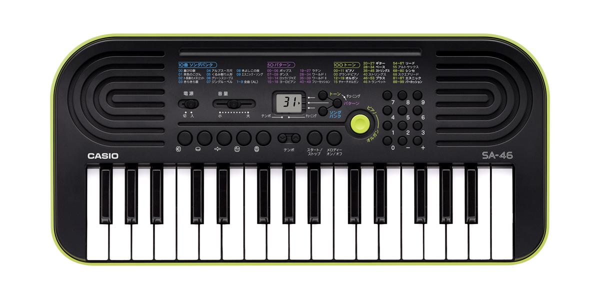 自動演奏やレッスンで楽しめる、10曲ソングバンク内蔵の32鍵のキーボードです!<br />キュートなボディと楽しい機能でお子様のプレゼントにもぴったりです!!