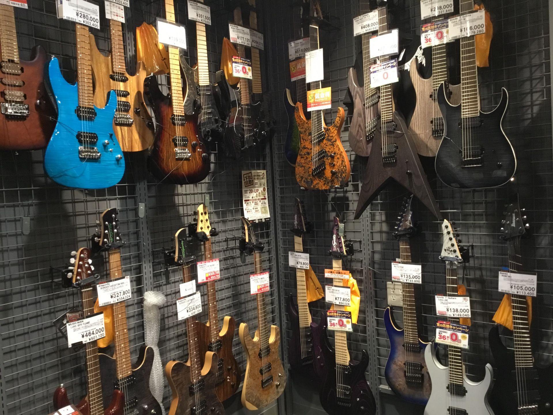 エレキギター7弦ギタースペース