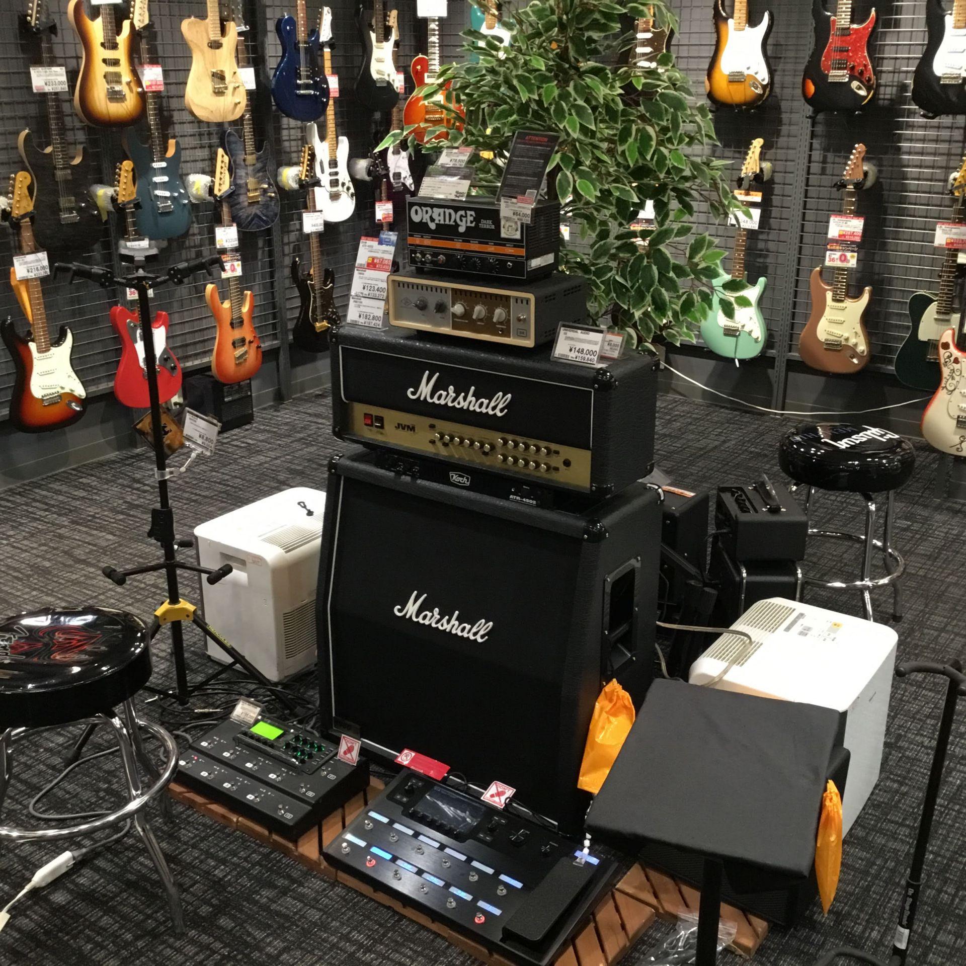 エレキギターゆっくりと気持ちよく試奏できる環境