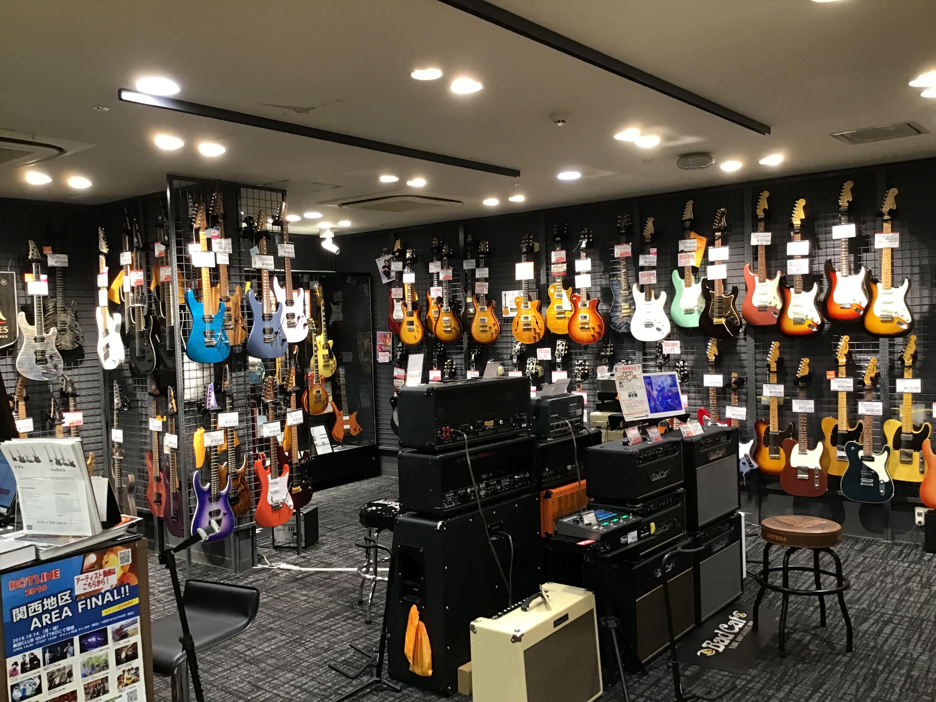 島村楽器梅田ロフト店 エレキギターコーナー