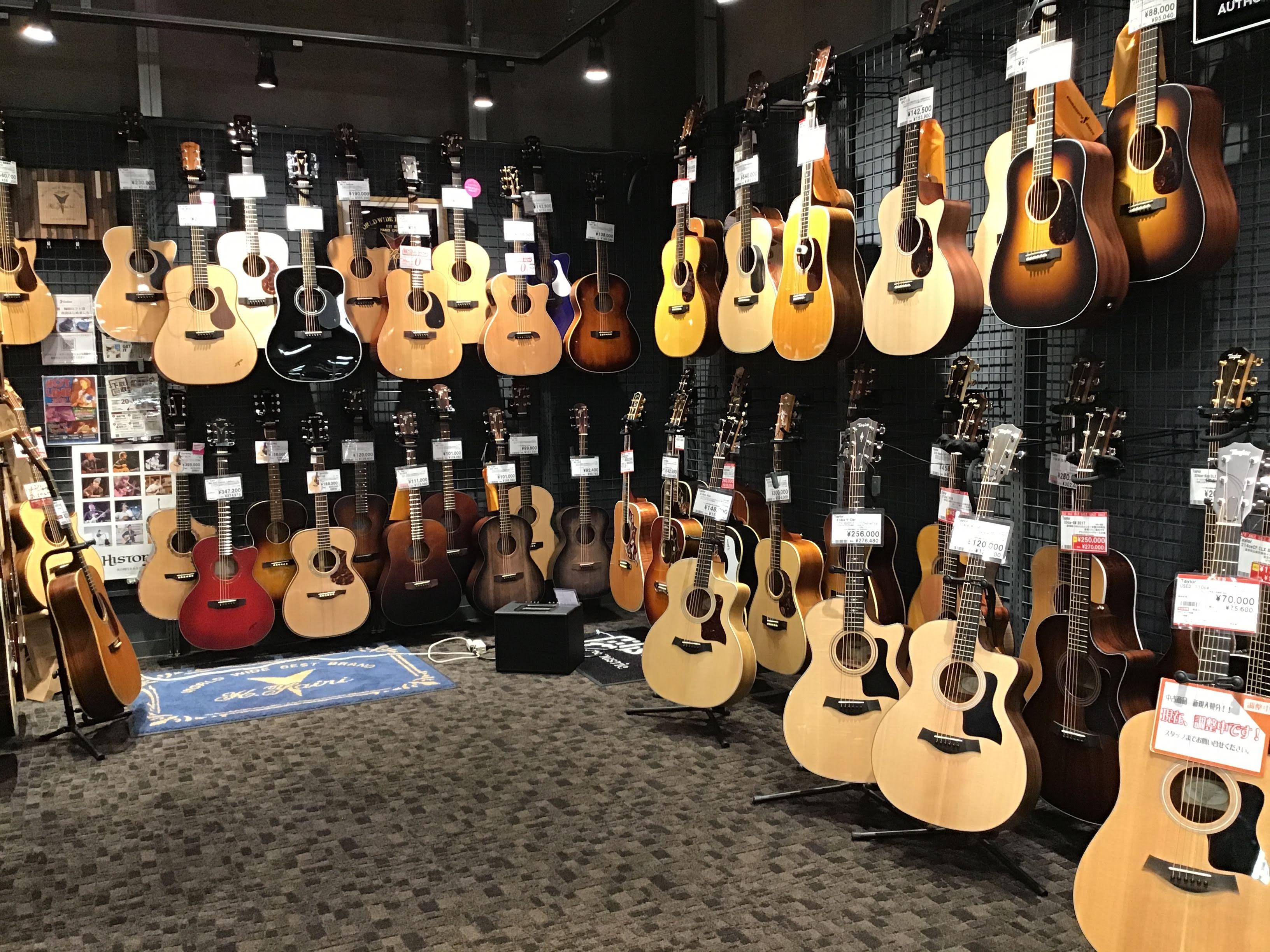 島村楽器梅田ロフト店 アコースティックギターコーナー