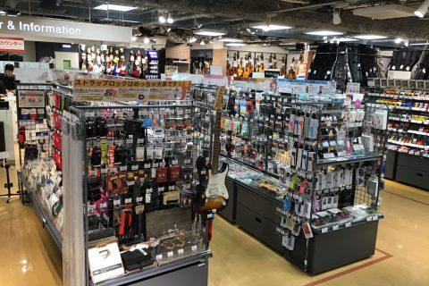 島村楽器梅田ロフト店 アクセサリーコーナー