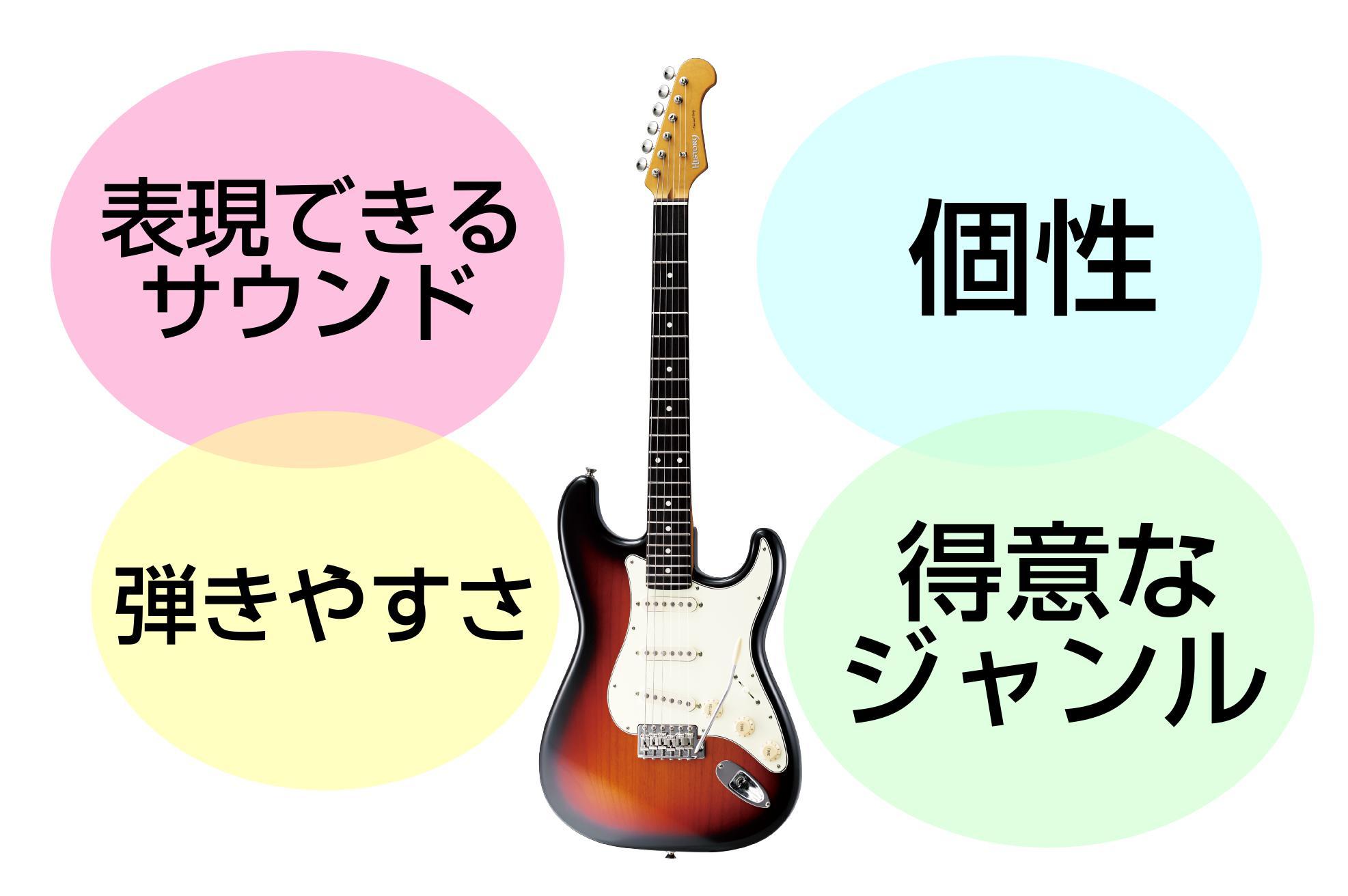 自分に合った弾きやすいギターを選べる