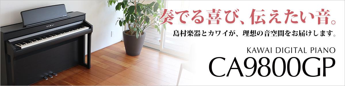 グランドピアノに迫る表現力を追求。理想の音空間をお届けします!KAWAI CA9800GP 新登場