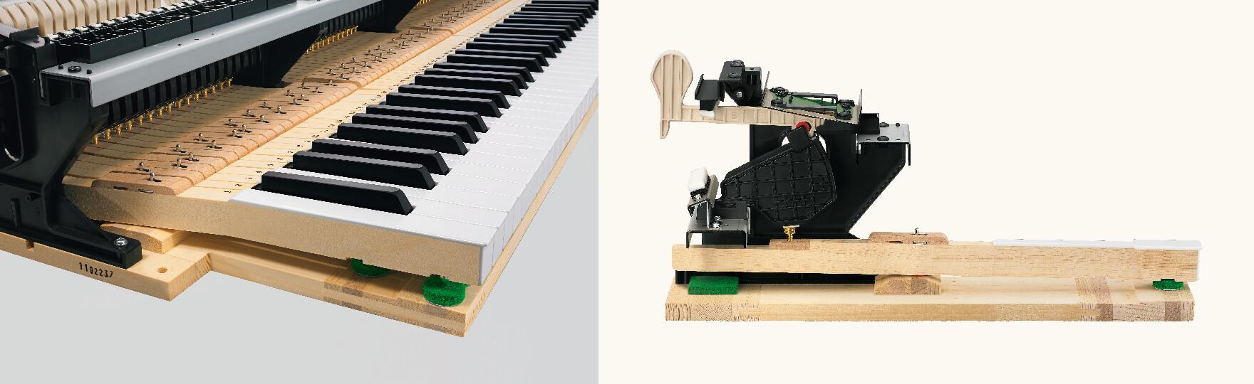 ナチュラルグランドハンマーアクション鍵盤 写真