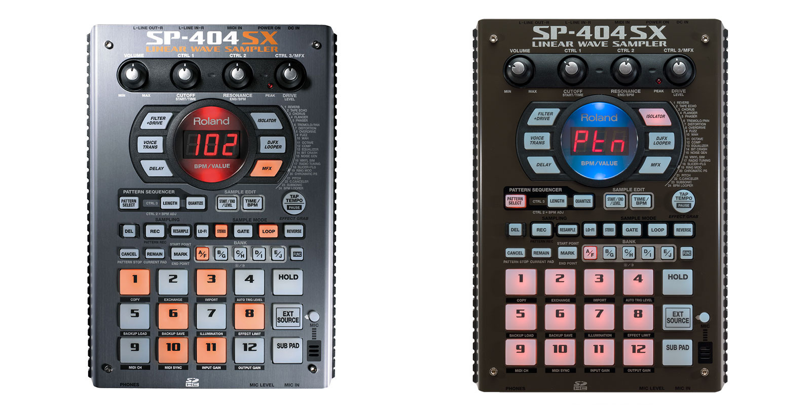 SP-404SXカラー比較