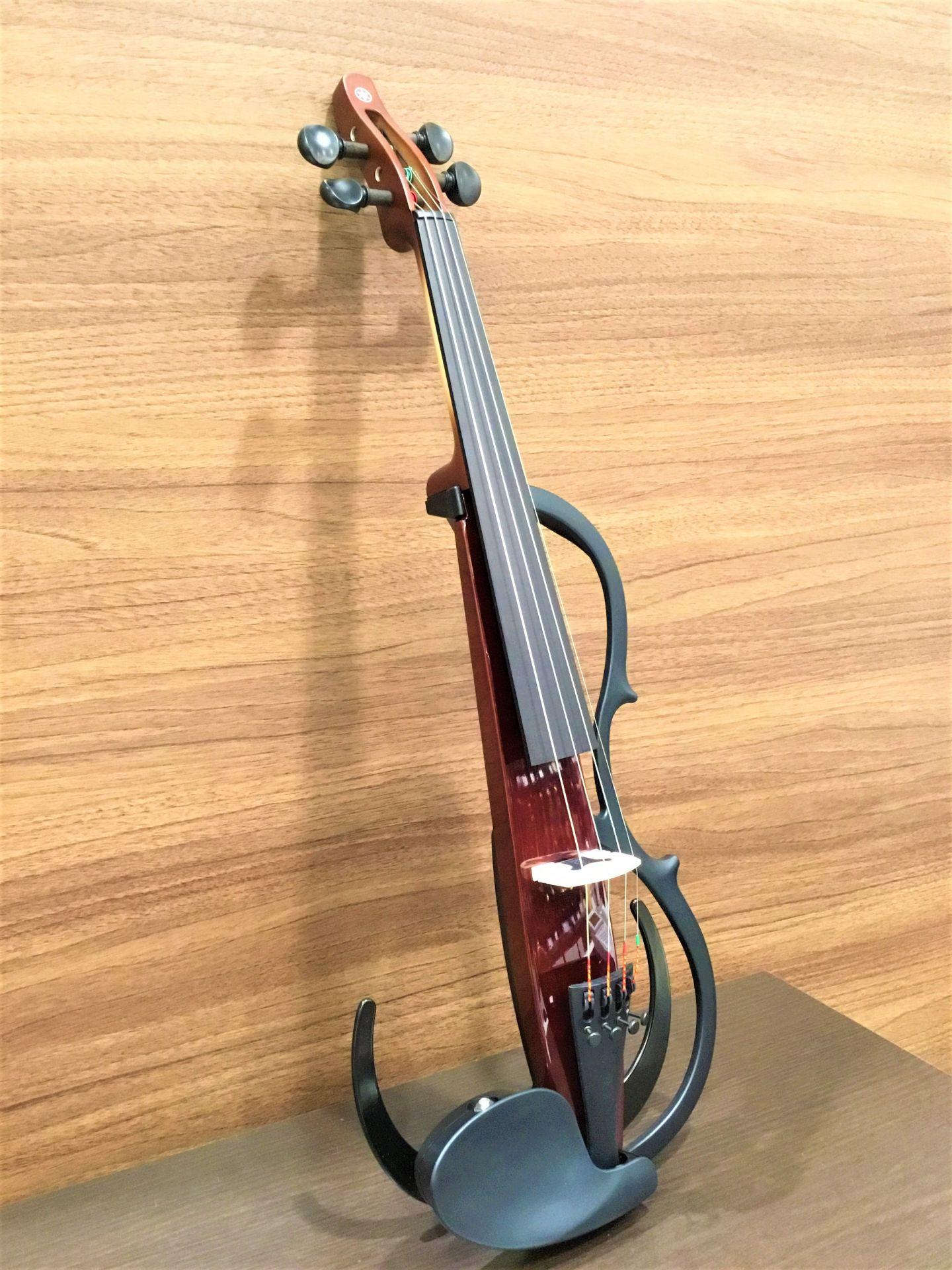 ヤマハサイレントバイオリンYSV104 ブラウン