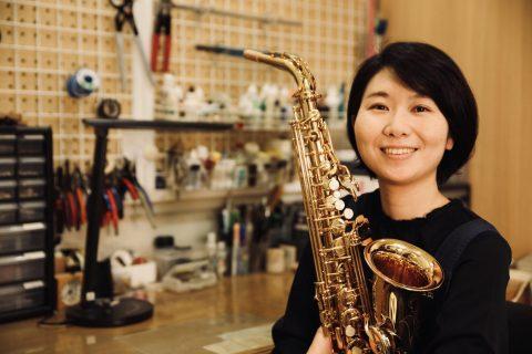 スタッフ写真管楽器リペア近田