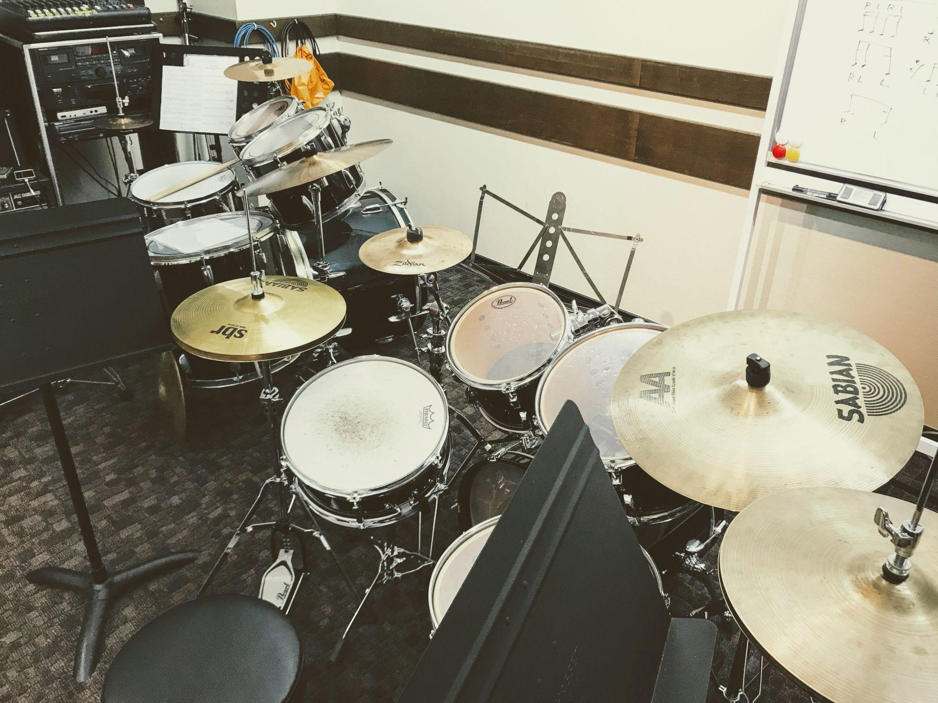 ドラムレッスン室の写真