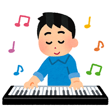 ピアノ弾く男性